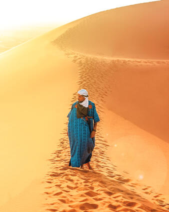 Canva - Man Walking On Sand